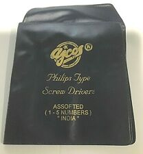 New Set 5 Phillips Head Screwdrivers-Change Batteries/Camera Repair-Free Ship!