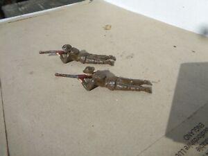 Britains , ww1 British US infantry lot of 2, 54mm hollowcast lead soldiers, AZ