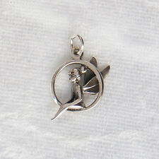 Sterling Silver Tinkerbell Fairy 3D Charm 13mm 925