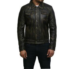 Tailor Made Men's Genuine Top Quality Black Real Leather Biker Studded Jacket