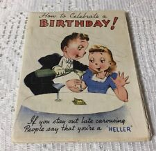 Vintage Birthday Card/Poster Unusual!