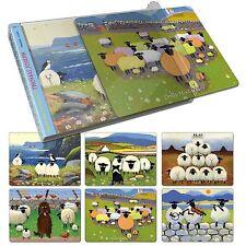 Thomas Joseph Sheep Design Place Mats Set of 6  Set 3