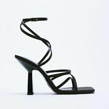 ZARA High-Heel Strappy Sandals - Black - U.K. 8 - Brand New With Tags