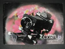 Nikon Close-Up Equipment 1975 Brochure Bellows Filters Lenses Extension Tubes