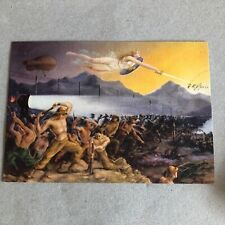 T) Postcard Military Large Format 8 ° Genius Company boors Artieri