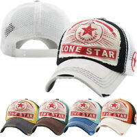 Lone Star Mesh Vintage Distressed Baseball Cap Dad Hat Adjustable