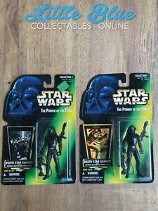 * Star Wars POTF * Death Star Gunner lot * Both Variants * MOC Figures * Green