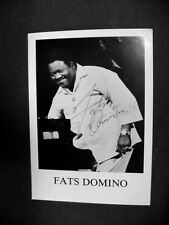 "FATS DOMINO HAND SIGNED IN INK AUTOGRAPHED PHOTOGRAPH:    5"" BY 7"""