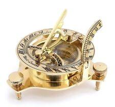 Marina Antique SunDial Compass Brass Nautical Xmas Gifts Brass Compass Sun-dial