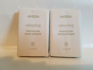 2 New AVEDA Refreshing Cleansing Bar Skin Care Bar Soap Travel Size