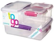Sistema Klip-it conjunto de 6plastic comida envases contenedores caja verde &