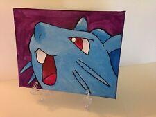 Nidoran Pokemon Oil on Canvas Painting OOAK Video game Anime Manga 8 x 10