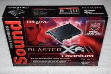 Creative Sound Blaster X-Fi Titanium Fatality Pro Series PCIe Audio Card SB0886.