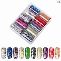 AkakaUS- Mixed Shining Nail Foil Transfer Sticker Tips Wraps Foil DIY Decoration