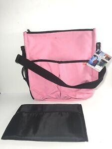Skip Hop Duo Diaper bag W/changing Pad Over Stroller/shoulder- 10 Pocket, Pink.