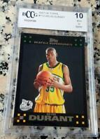 KEVIN DURANT 2007 Topps BLACK #1 Draft Pick SP Rookie Card RC BGS BCCG 10 MVP $$