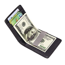Bifold Wallet front pocket  Money Clip Genuine Leather Mens or Women