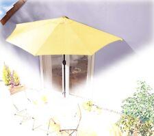 Sonnenschirm gelb halbrund Kurbel Sonnenschutz Garten Balkon Terrasse günstig