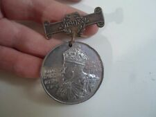 Vintage Medallion King Edward VIII Medal 1902 London County Council 1908+Pin