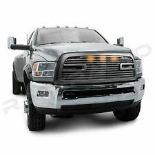 Big Horn II+LED Matte Black Packaged Grille+Shell fit 10-18 Dodge Ram 2500+3500