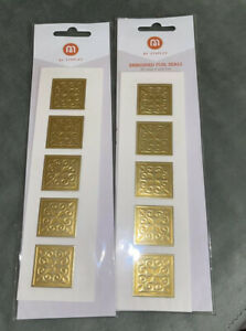 M By Staples Embossed Gold Teardrop Foil Envelope Seals, 2 Packages, 40 Count