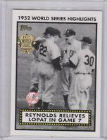 2002 Topps - 1952 World Series Highlights #52WS-7 New York Yankees Team