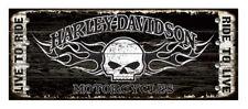 Harley-Davidson 17 x 44 Genuine Willie G Skull Studded Wood Sign W5-SCGPX8-HARL