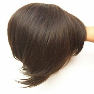 """6""""/15cm Wavy /straight Human Hair Topper Clip in Hair Top Piece Bangs Extensions"""
