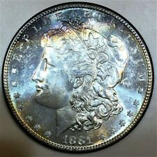 1881-S Morgan Silver Dollar Beautiful Uncirculated Coin Reverse Proof Like