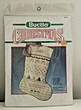 "New*Bucilla ""Victorian Christmas"" Stitchery Stocking Kit 18"" Lace Floss 82435"