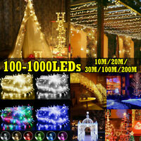 10M-200M 100-1000 LED Fairy Lights String Christmas Wedding Party Decoration