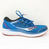 Saucony Mens Guide ISO 2 S20464-36 Blue Black Running Shoes Lace Up Size 9.5