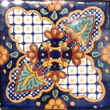 90 MEXICAN CERAMIC TILES WALL OR FLOOR USE CLAY TALAVERA MEXICO POTTERY #C087