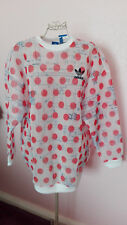 Adidas womens grunge oversized rare design net nylon jumper 12 BNWT