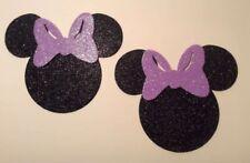 Glitter Foam Minnie Mouse Head w/ Lght Purple Bow Set 12 Die Cuts Embellishments