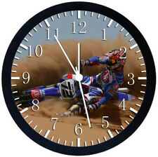 Motorcross Motor Cross Black Frame Wall Clock Nice For Decor or Gifts W406