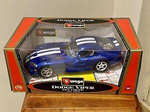 1/18 Scale Dodge Viper GTS Coupe Diecast Car Model Bburago Burago Made In Italy