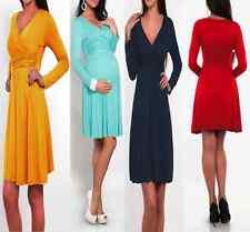 Women's Dress V Neck Long Sleeve Tunic Stretchable Maternity Pregnancy