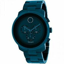 Movado Bold Navy Dial Blue Stainless Steel Men's Watch 3600279