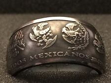 24K Pure Silver Coin Ring | Mexican Libertad | Sizes 5-15