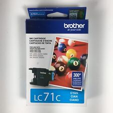 BROTHER Printer Ink Cartridge LC71C Cyan NEW SEALED Exp 07/2017
