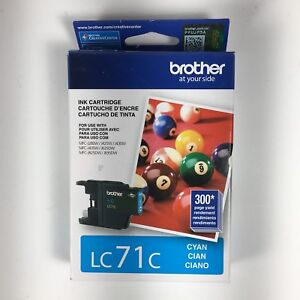Brother Printer Ink Cartridge LC71C Cyan NEW SEALED Expired 07/2017