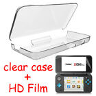 For Nintendo 2DS XL LL 2017 Clear Hard PC Shell Case Cover HD Screen Protector
