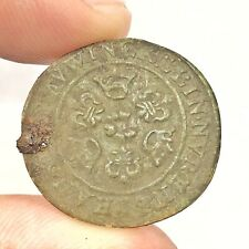 Authentic Medieval European Copper Coin Or Token - Middle Age Artifact Relic A+