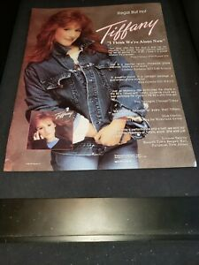 Tiffany I Think We're Alone Now Rare Original Radio Promo Poster Ad Framed!