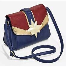 Marvel Captain Marvel Faux Leather Crossbody Purse Shoulder Bag Tote. Brand New