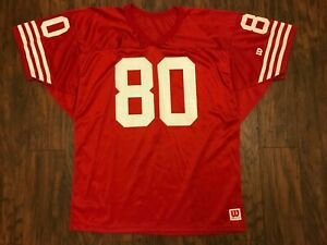 Vintage Jerry Rice #80 Wilson Jersey Red Size XL, San Francisco 49ers