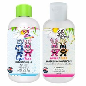 Kids - Natural Shampoo & Conditioner Set with argan oil. No Parabens & SLS
