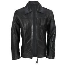 Mens Black Classic Collared Rider Jacket (FJ3)