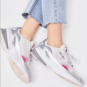 NWT Women Adidas Originals Falcon Sneakers D96757 Orchid Tint/Silver Running 10